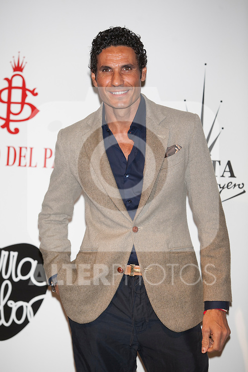Bullfighter Oscar Higares attends Santiago Palacio´s fashion show in Madrid, Spain. November 13, 2014. (ALTERPHOTOS/Victor Blanco)