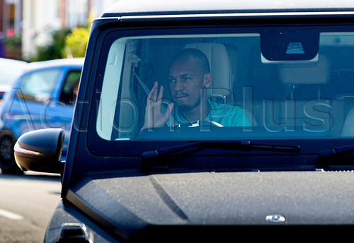 20th May 2020, Melwood Training ground, Liverpool, England;  Liverpools Fabinho arrives at Melwood in Liverpool to resume training on May 20, 2020. The Premier League clubs are allowed to start small-group training from Tuesday after the top-flight football league in England was suspended on March 13 due to coronavirus outbreak.