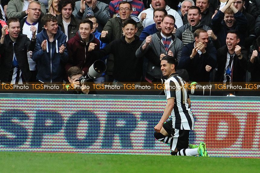 Ayoze Perez of Newcastle United celebrates scoring the opening goal of the game during Newcastle United vs Barnsley, Sky Bet EFL Championship Football at St. James' Park on 7th May 2017