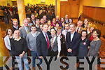 Arthur Spring celebrates at the North Kerry, West Limerick Election 2011 count at the Brandon Hotel Tralee on Saturday.