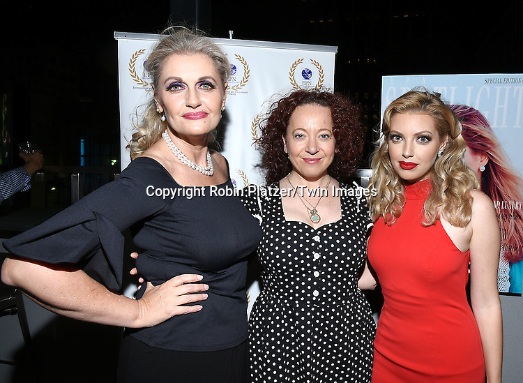 Ilyana Kadushin and Dalal/ Dalal Bruchmann. Recording Artist,Composer and Actress attends the &quot;EPN Spotlight Magazine&quot;  launch party on June 10, 2016 at the Renaissance NY Hotel in New York, New York, USA. Dalal Bruchmann is the cover model.<br /> <br /> photo by Robin Platzer/Twin Images<br />  <br /> phone number 212-935-0770