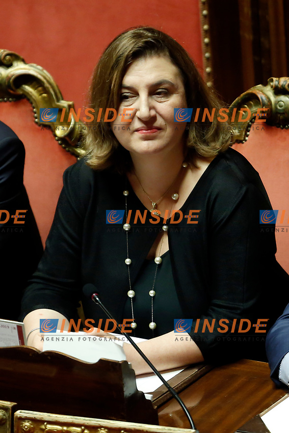 Nunzia Catalfo<br /> Rome September 10th 2019. Senate. Discussion and Trust vote at the new Government. <br /> Foto  Samantha Zucchi Insidefoto