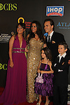 Jonathan Jackson & Lisa Vultaggio & Children & Kimberly McCullough at the 38th Annual Daytime Entertainment Emmy Awards 2011 held on June 19, 2011 at the Las Vegas Hilton, Las Vegas, Nevada. (Photo by Sue Coflin/Max Photos)