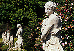 Statues in gardens at Huntington Gardens in Pasadena