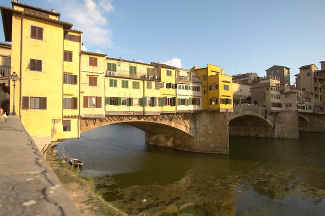 Ponte Vecchio over the River Arno, Florence, Italy.