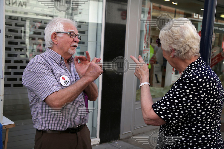 Two UKIP supporters discuss the victory of the 'Leave' camp in the EU referendun. <br /> The town of Boston had the country's highest proportion of 'leave' votes cast in the EU referendum with almost 76 percent of ballots cast for Brexit. Lincolnshire has, in recent years, seen an influx of EU workers drawn to the area's agricultural industry. The 2011 census found about 13 percent of Boston's residents were born in Eastern Europe and migrated to the UK since 2004.