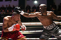 Justin Menzie (grey shorts) defeats Robert Asagba during a Boxing Show at York Hall on 3rd March 2018