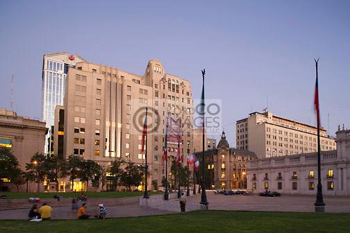 PLAZA DE LA CONSTITUCION    SANTIAGO CHILE