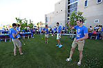 Riders play with yo-yos during the Journey of Hope event at Western Nevada College in Carson City, Nev., on Friday, June 12, 2015. Nearly 30 cyclist rode into town Friday as part of the Pi Kappa Phi fraternity&rsquo;s cross-country ride to bring awareness and support to people with disabilities.<br /> Photo by Cathleen Allison/Nevada Photo Source