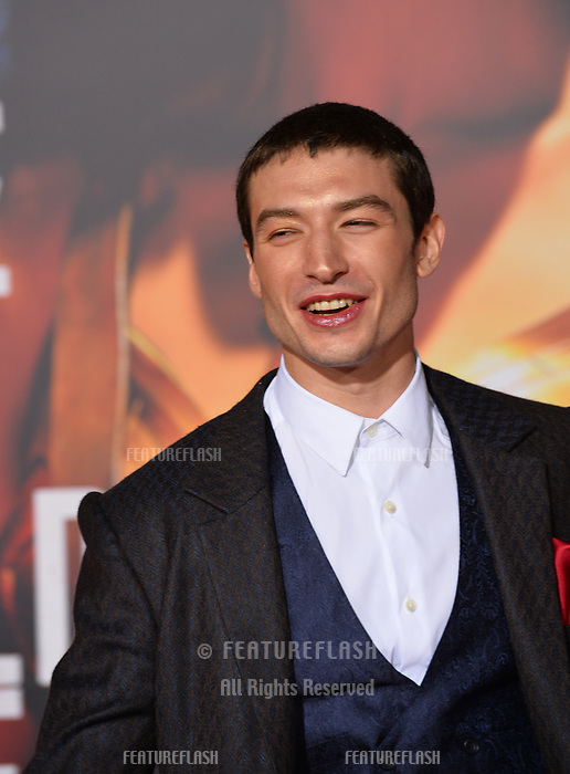Ezra Miller at the world premiere for &quot;Justice League&quot; at The Dolby Theatre, Hollywood. Los Angeles, USA 13 November  2017<br /> Picture: Paul Smith/Featureflash/SilverHub 0208 004 5359 sales@silverhubmedia.com