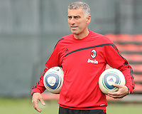 Mauro Tassotti coach of AC Milan during a practice session at RFK practice facility in Washington DC on May 24 2010.