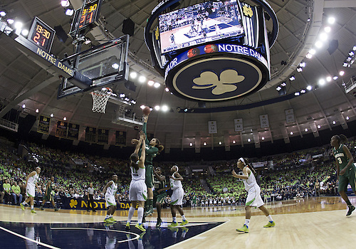 December 05, 2012:  A general view as Baylor center Brittney Griner (42) goes up for a shot while Notre Dame forward Natalie Achonwa (11) defends during NCAA Women's Basketball game action between the Notre Dame Fighting Irish and the Baylor Bears at Purcell Pavilion at the Joyce Center in South Bend, Indiana.  Baylor defeated Notre Dame 73-61.