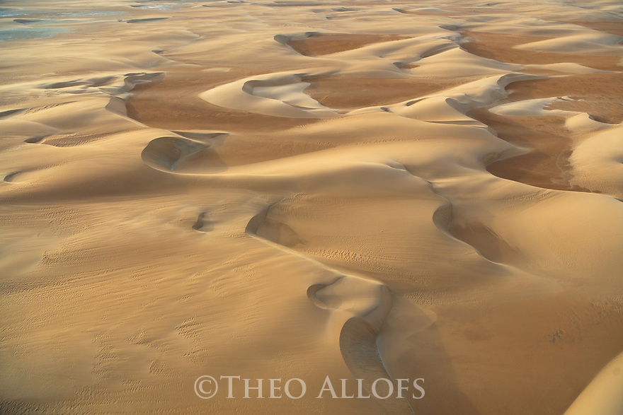 Chad (Tchad), North Africa, Sahara, Borkou District, aerial of sand dunes