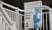 Sign for the Compton Lower Stand at Lords during Middlesex CCC vs Lancashire CCC, Specsavers County Championship Division 2 Cricket at Lord's Cricket Ground on 12th April 2019