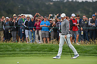 Rory McIlroy (NIR) barely misses his putt on 6 during round 2 of the 2019 US Open, Pebble Beach Golf Links, Monterrey, California, USA. 6/14/2019.<br /> Picture: Golffile | Ken Murray<br /> <br /> All photo usage must carry mandatory copyright credit (© Golffile | Ken Murray)