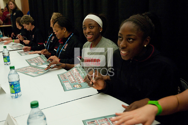 DENVER, CO--Fan autograph session and open practice for the 2012 NCAA Women's Final Four in Denver, CO.