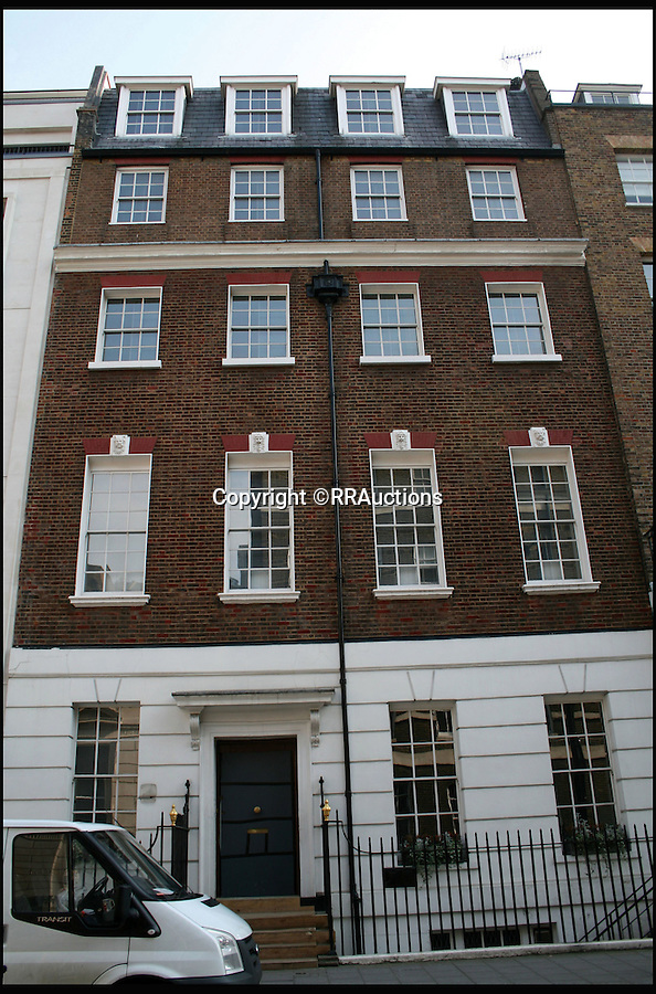 BNPS.co.uk (01202 558833)<br /> Pic: RRAuctions/BNPS<br /> <br /> Apples core - 3 Saville Row.<br /> <br /> Last Writes - Sale of Apples iconic Saville Row HQ by the four Beatles...just days before Lennon was gunned down in New York.<br /> <br /> The final document signed by all four Beatles just 30 days before John Lennon was murdered has emerged for sale for the first time at £55,000.<br /> <br /> The 1980 paperwork records the band signing away the headquarters of their business Apple Corps in London's Savile Row, where they played their iconic rooftop farewell gig in 1969. <br /> <br /> John Lennon, Paul McCartney, Ringo Starr, and George Harrison all put pen to paper to sell the four-storey building on November 9 as their company wound down.