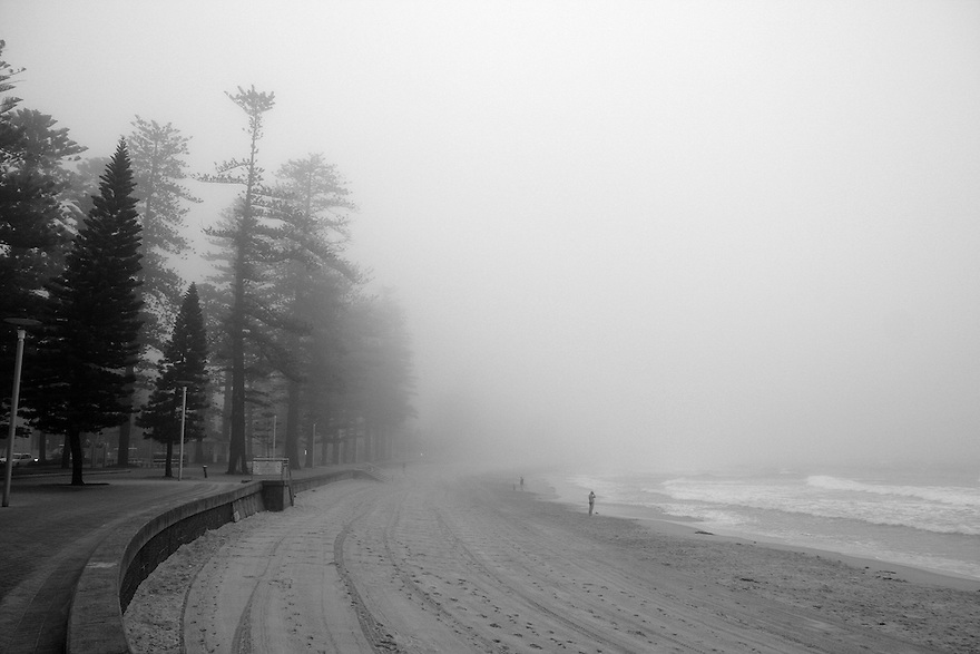 Fog at Manly Beach, NSW, AU 2009. This photo was displayed in Manly Daily.