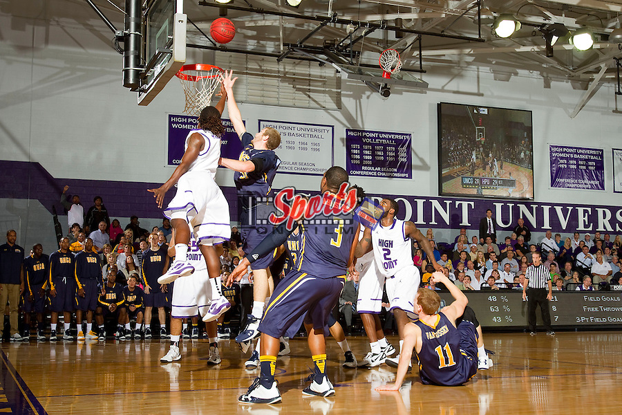 The High Point Panthers opened their 2012-2013 season against the UNCG Spartans at Millis Athletic Center on November 9, 2012 in High Point, North Carolina.  The Panthers defeated the Spartans 81-73.   (Brian Westerholt/Sports On Film)
