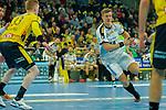 Niclas Pieczkowski (DHfK Leipzig Nr.14) im Angriff - beim Bundesliga-Spiel der Rhein Neckar Löwen gegen SC DHfK Leipzig am 03.03.2020 in der SAP Arena in Mannheim beim Spiel in der Handball Bundesliga, Rhein Neckar Loewen - SC DHfK Leipzig.<br /> <br /> Foto © PIX-Sportfotos *** Foto ist honorarpflichtig! *** Auf Anfrage in hoeherer Qualitaet/Aufloesung. Belegexemplar erbeten. Veroeffentlichung ausschliesslich fuer journalistisch-publizistische Zwecke. For editorial use only.