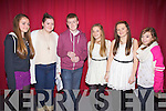 Members from the Cahersiveen Youth Club who took part in the K.D.Y.S. Youth Factor South West Mini Regional Final's on Friday night last in Foilmore were l-r; Karen Stapleton, Lynda O'Neill(M.C.), Shane Mulvihill(M.C.), Rachel O'Connell, Casey O'Donoghue & Shauna Daly(M.C.).