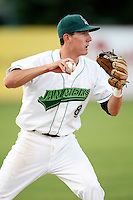July 16, 2009:  Third Baseman Chase Austin of the Jamestown Jammers during a game at Russell Diethrick Park in Jamestown, NY.  The Jammers are the NY-Penn League Short-Season Single-A affiliate of the Florida Marlins.  Photo By Mike Janes/Four Seam Images