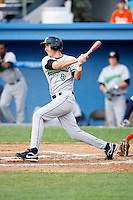 July 1, 2009:  Third Baseman Chase Austin (8) of the Jamestown Jammers at bat during a game at Dwyer Stadium in Batavia, NY.  The Jammers are the NY-Penn League Short-Season Class-A affiliate of the Florida Marlins.  Photo by:  Mike Janes/Four Seam Images