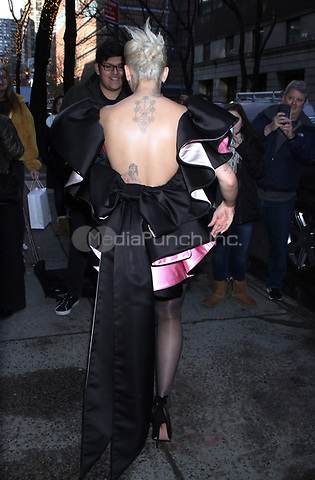 NEW YORK, NY - December 17: Rita Ora seen exiting Live with Kelly & Ryan on December 17, 2018 in New York City. Credit: RW/MediaPunch