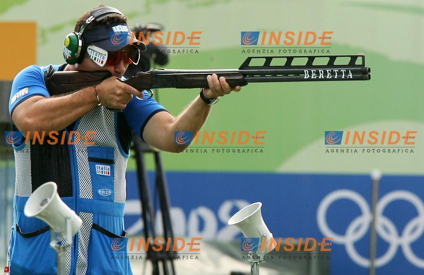 Francesco D'Aniello medaglia d'argento Double Trap<br /> Beijing shooting range CTF<br /> Pechino - Beijing 12/8/2008 Olimpiadi 2008 Olympic Games<br /> Foto Andrea Staccioli Insidefoto