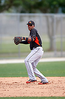 Miami Marlins Rehiner Cordova (21) during a minor league Spring Training intrasquad game on March 31, 2016 at Roger Dean Sports Complex in Jupiter, Florida.  (Mike Janes/Four Seam Images)