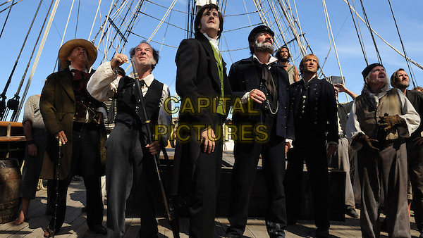 TOM HANKS (far left), JIM STURGESS (center), JIM BROADBENT (center right) .in Cloud Atlas (2012) .*Filmstill - Editorial Use Only*.CAP/FB.Supplied by Capital Pictures.