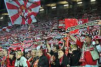 FUSSBALL 1. BUNDESLIGA   SAISON   2012/2013: RELEGATION   RUECKSPIEL 1. FC Kaiserslautern - TSG 1899 Hoffenheim         27.05.2013 Fans vom 1. FC Kaiserslautern feiern ihre Mannschaft trotz der Niederlage