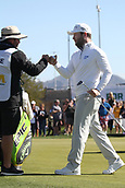 February 1st 2019, Scotsdale, Arizona, USA; Branden Grace acknowledges his caddy after completing his round at the second round of the Waste Management Phoenix Open  at TPC Scottsdale in Scottsdale, Arizona.