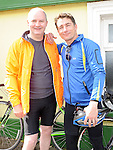 Ivan Hevey and Alan Louth who took part in the annual SOSAD cycle in Slane. Photo: Colin Bell/pressphotos.ie