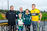 At Frank Sheehy GAA park Listowel on Saturday were family members of the Christopher Hennessy International Memorial Tournament L-r Dermot Hughes, Tristan Hennessy, John Hennessy, Helen Hennessy and Darren Halpin.