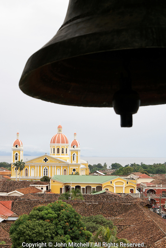 View of the Spanish colonial city of Granada from the bell tower of La Merced Church, Granada, Nicaragua