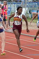 Kelly Sr. Dakaria Johnson runs to a 3rd-place finish in the Class 2 100-meter dash in 12.44 seconds.
