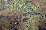 Aerial view over Arctic north slope of ANWR.