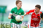 Declan O'Sullivan West Kerry in action against Danny Sheahan Legion in the Quarter Final of the Kerry Senior County Championship at Austin Stack Park on Sunday.