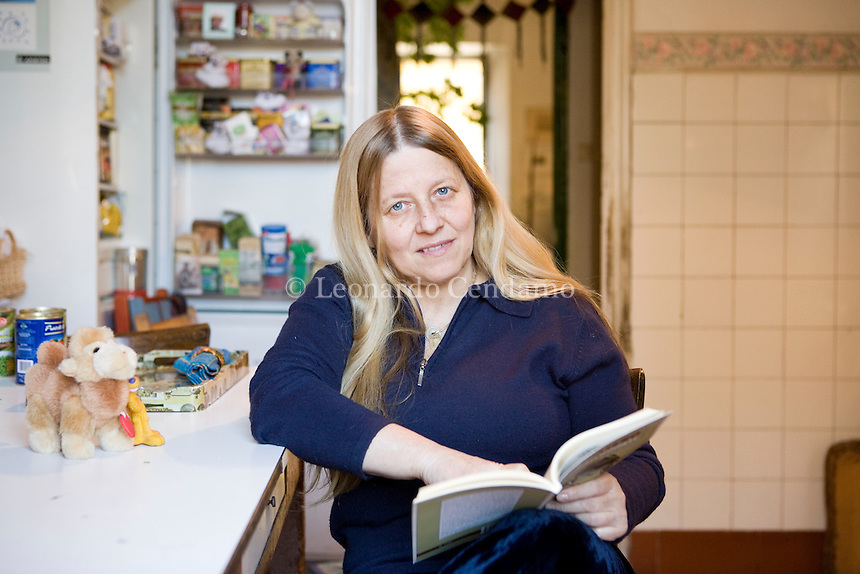 Milan, Italy 2008. Lucia Vastano, Italian writer and journalist. Ms Vastano lives in Milan and writes on 'Corriere della Sera'.