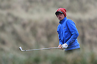 Brandon St.John (Portmarnock) on the 13th tee during Round 2 of the Ulster Boys Championship at Portrush Golf Club, Portrush, Co. Antrim on the Valley course on Wednesday 31st Oct 2018.<br /> Picture:  Thos Caffrey / www.golffile.ie<br /> <br /> All photo usage must carry mandatory copyright credit (&copy; Golffile | Thos Caffrey)