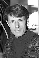 Photo exclusive de L'acteur francais Lambert Wilson en entrevue, le 1er mars 1990.<br /> <br /> PHOTO : Agence Quebec Presse