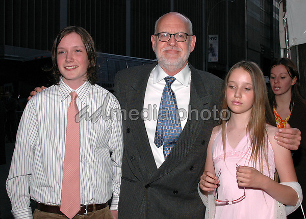12 May 2005 - New York, New York - The voice of Yoda, Frank Oz and his children Cooper and Hattie arrive at the premiere of &quot;Star Wars II Revenge of the Sith&quot; at the Ziegfeld Theater in Manhattan.<br />