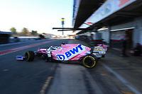 28th February 2020; Circuit De Barcelona Catalunya, Barcelona, Catalonia, Spain; Formula 1 Pre season Testing Week Two, Day 3; BWT Racing Point F1 Team, Sergio Perez