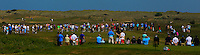 A crowd around the 9th green during Round 4 of the East of Ireland Amateur Open Championship sponsored by City North Hotel at Co. Louth Golf club in Baltray on Monday 6th June 2016.<br /> Photo by: Golffile   Thos Caffrey