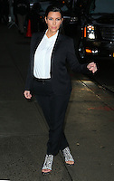 "Kim Kardashian arrives at the ""Late Show"" - New York"