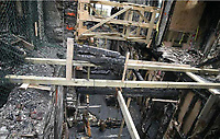 Pictured: Interior view of the fire-hit hotel.<br /> Re: A man who killed a hotel guest after setting fire to his hotel, by lighting curtains and a linen cupboard, is due to be sentenced by Swansea Crown Court.<br /> 31 year old Damion Harris, of Llanbadarn Fawr, west Wales, admitted the manslaughter of Juozas Tunaitis, arson and inflicting grievous bodily harm.<br /> Belgrave House Hotel (Ty Belgrave Hotel) in Aberystwyth, Ceredigion was burned down in July 2018