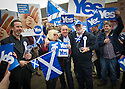 First Minister Alex Salmond on the campaign trail.