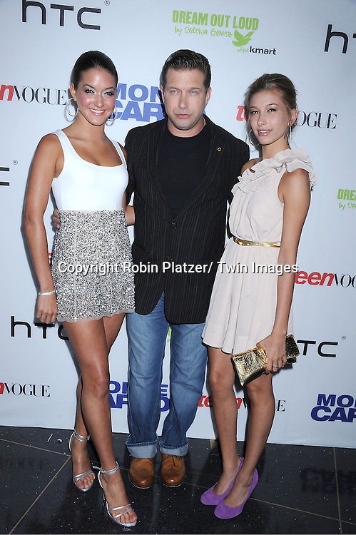 "Stephen Baldwin and daughters Alia and Hailey Baldwin attending The TEEN VOGUE Red Carpet Premiere Event Screening of "" Monte Carlo"" starring Selena Gomez, Katie Cassidy and Andie MacDowell on June 23, 2011 at The Loews Lincoln Square Theatre in New York City."