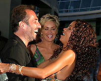 "©2004 KATHY HUTCHINS /HUTCHINS PHOTO.PREMIERE OF ""CATWOMAN"".HOLLYWOOD, CA.JULY 19, 2004..PITOF.SHARON STONE.HALLE BERRY.."